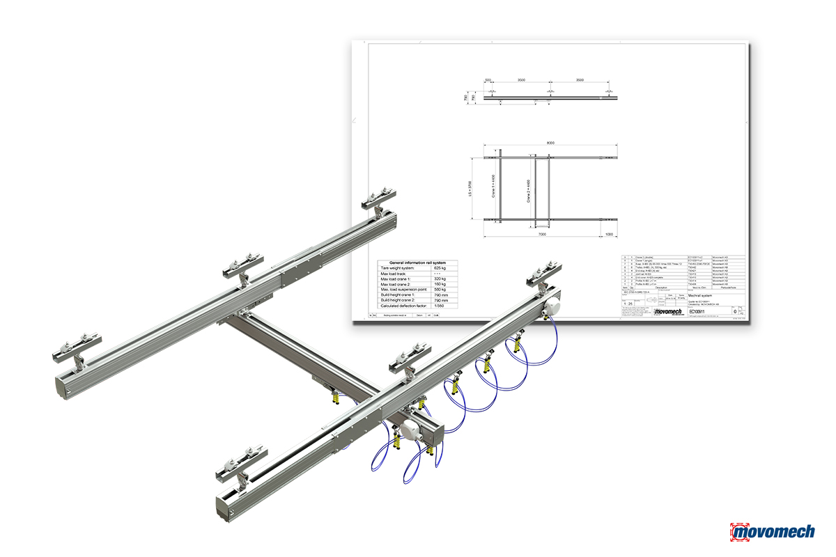 Crane system configurator for Mechrail - EConfig by Movomech