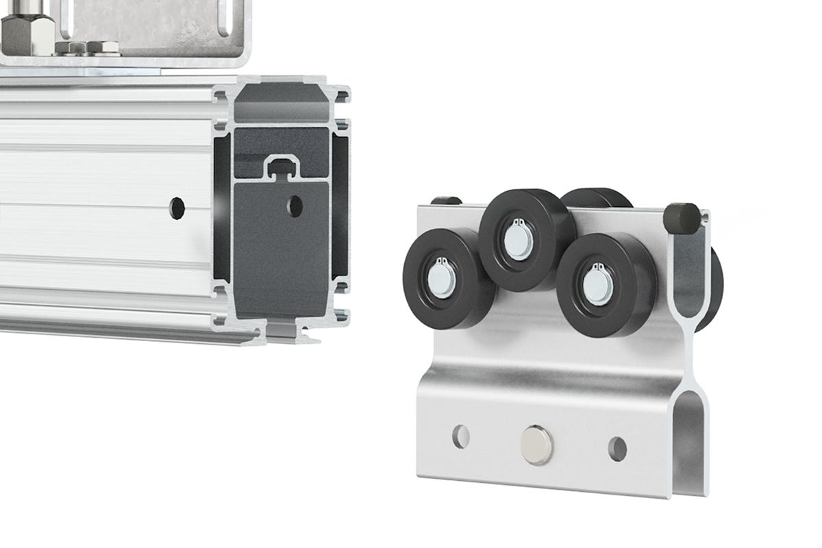 Kransystem med löpvagn i aluminium, Mechrail från Movomech