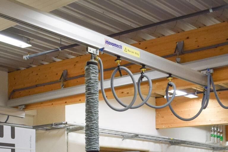 Mechrail crane system suspensions