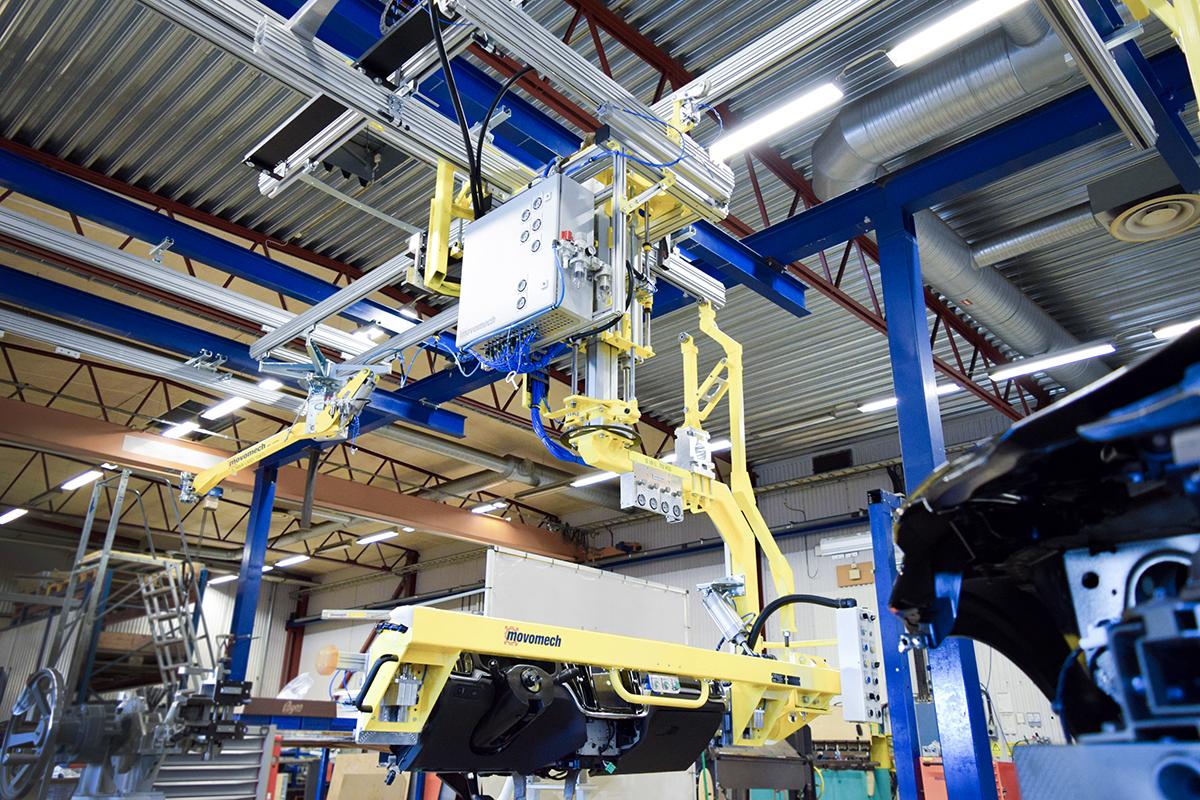 Lyfthjälpmedel för lyft och montering av instrumentbrädor - lift assist for dashboards - cockpit - movomech
